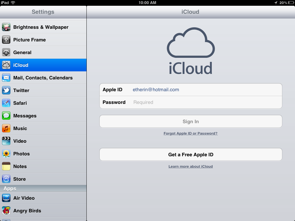 change Apple ID on iPad. 6