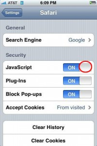 How to Enable Javascript on iPhone