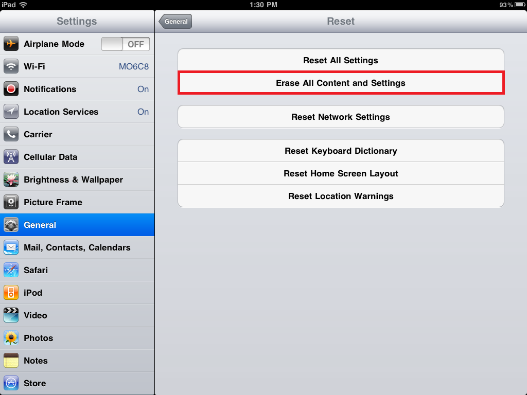 How to Factory Reset an iPad