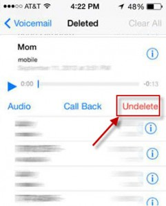 How to Undelete Voicemail on iPhone