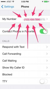 2. how to find your phone number on iPhone